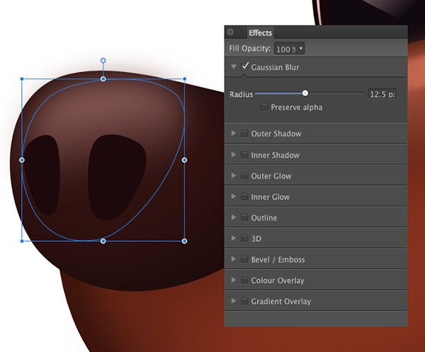apply a gradient with the transparency tool y top to bottom apply a 125 pixel gaussian blur