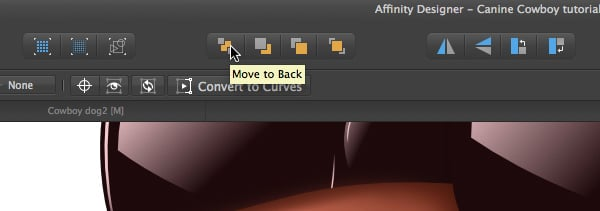 click on the move to back  icon