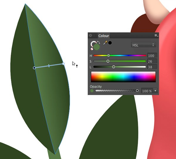 apply a transparent gradient with the transparency tool y
