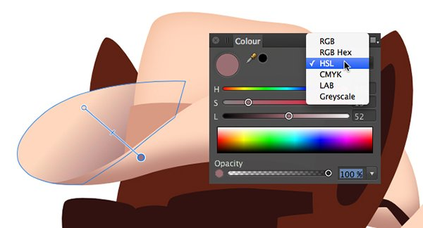 adjusting the colour in a colour gradient