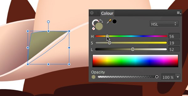 use the technique to quickly change the colour