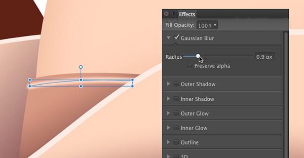 apply a 9 pixel gaussian blur