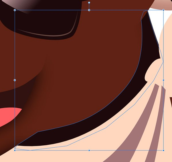 fill the shape with the dark shadow colour