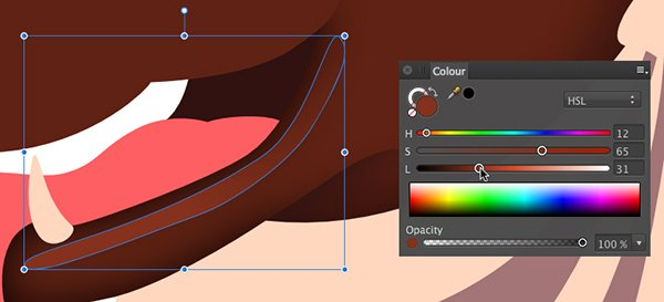 create a shape and fill it with a browny red colour