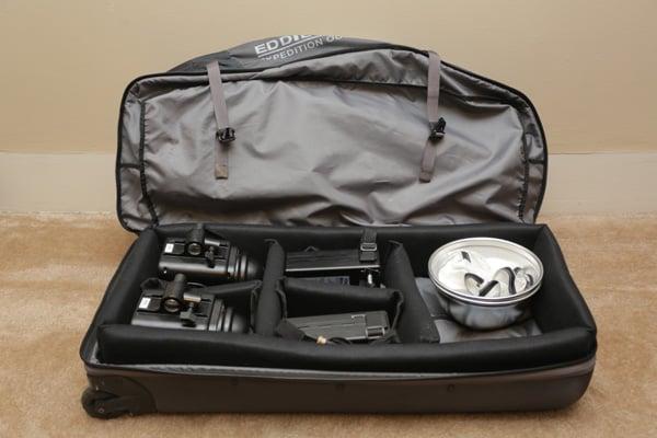 Eddie Bauer DIY gear bag filled with kit