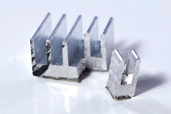 Cut off the corner of a small self-stick heatsink