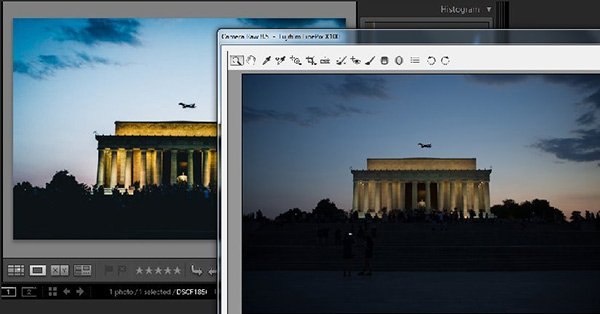 image file displayed in Adobe Lightroom and Photoshop looks different in each program