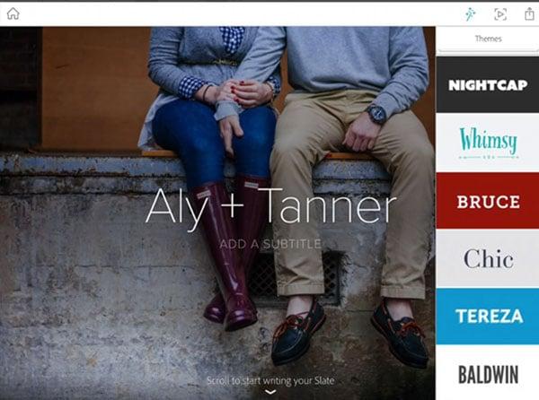 Adobe Slate Themes