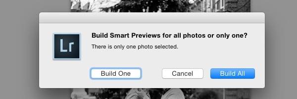 Build all Smart Previews