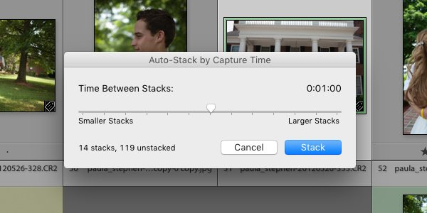 Auto-stack by Capture Time