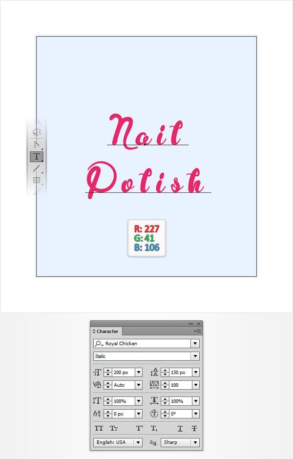 Nail Polish Text
