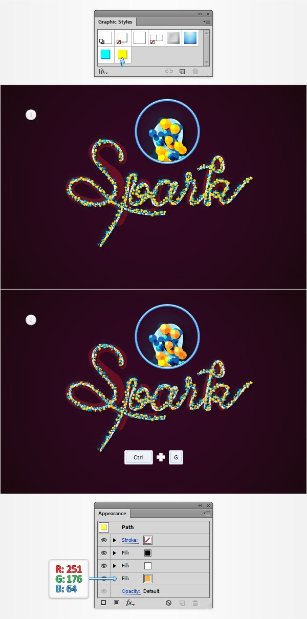 Colorful Sparkly Text