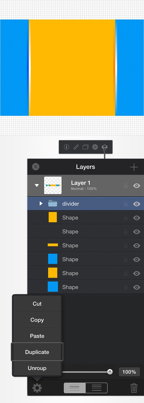 create dividers