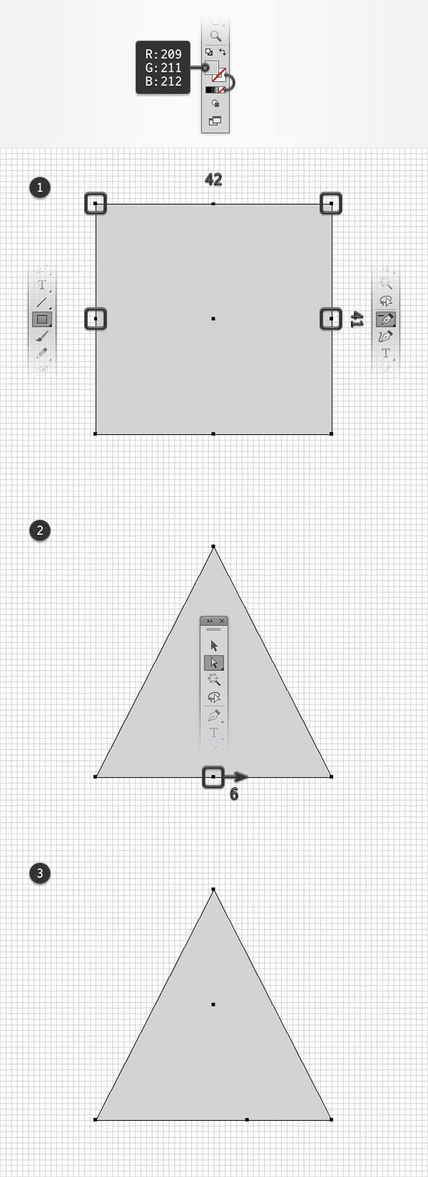 create triangle