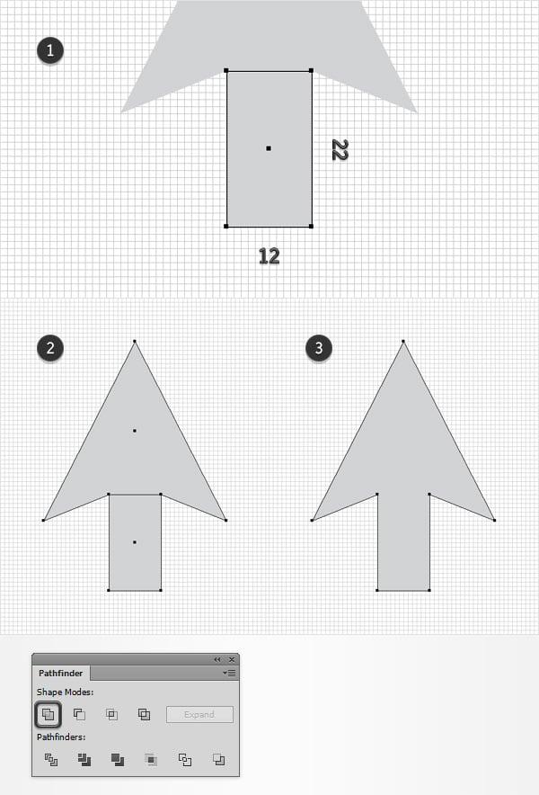 create arrow shape