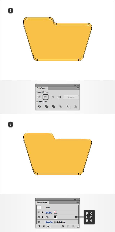 yellow shape shding
