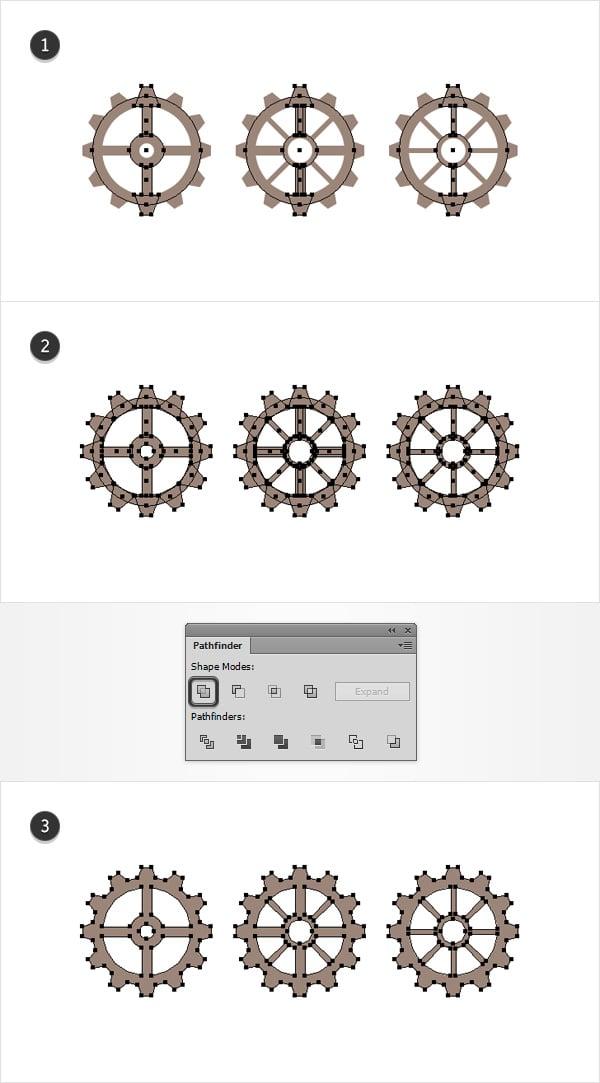 main gear shapes