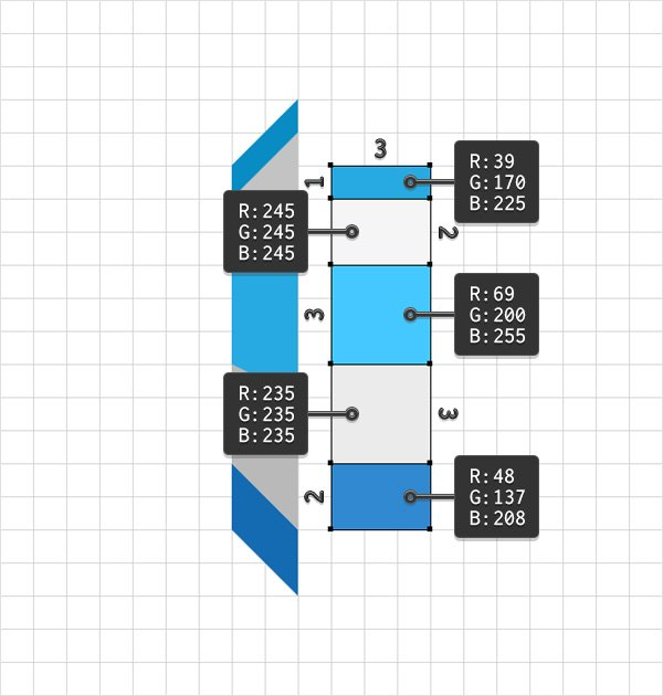 third rectangles column