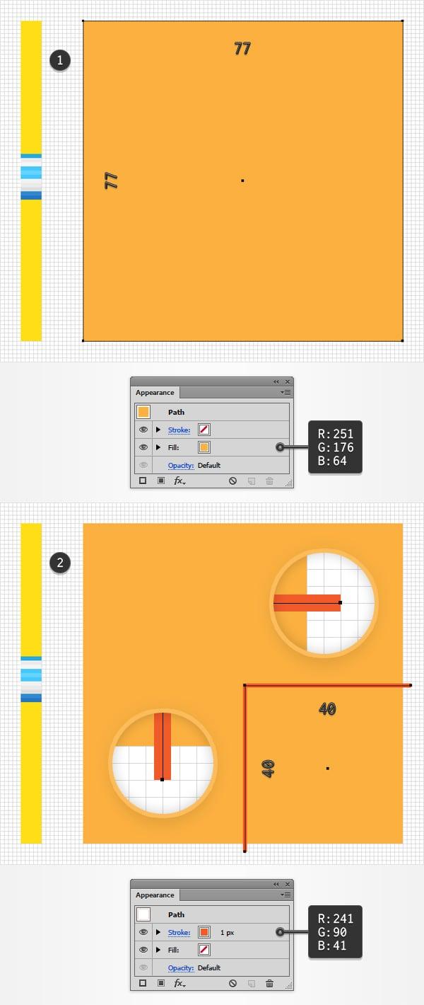 orange rectangle