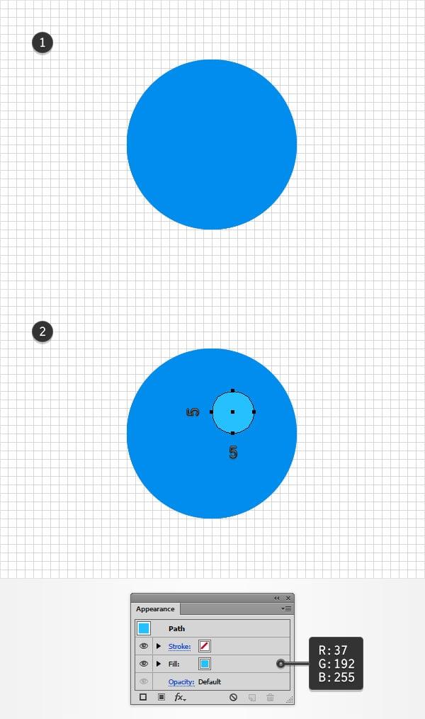 second blue circle