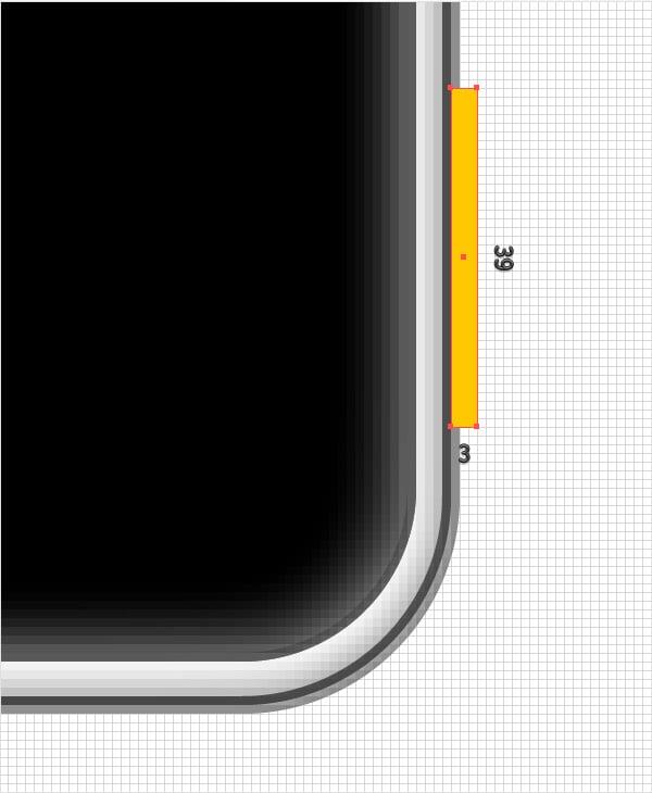 tiny yellow rectangle