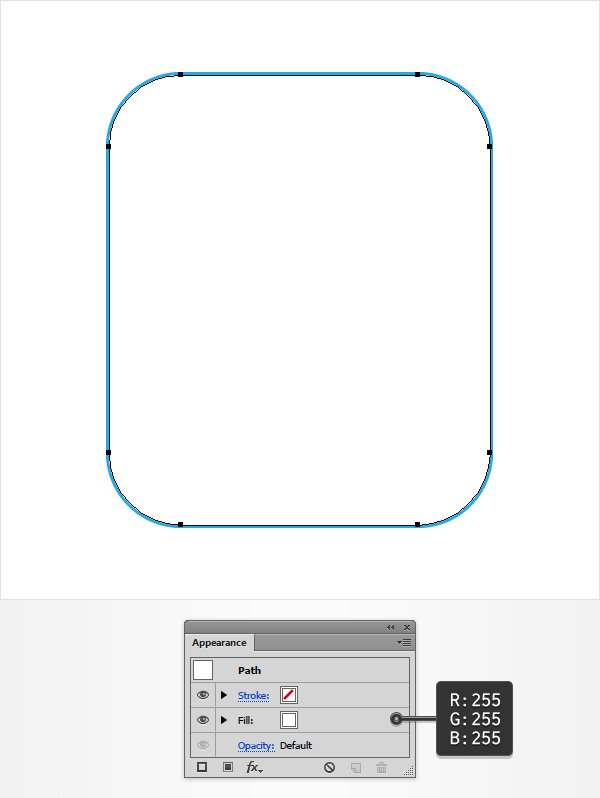 white rounded rectangle