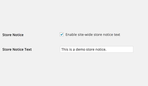 Store notice option