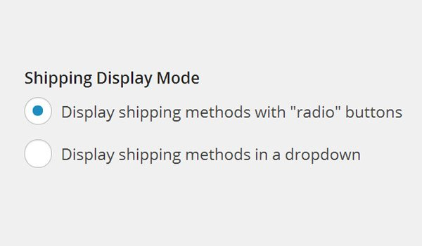 Shipping Display Mode