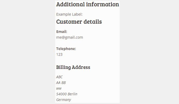 Only the Billing Address displayed on checkout page