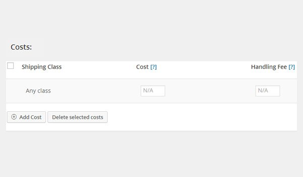 Costs options