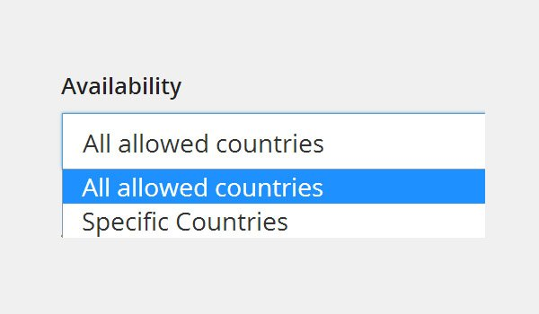 Availability All allowed countries