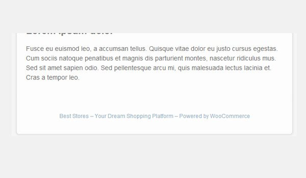 Email footer with default lorem ipsum text