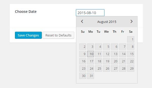 Adding Date Type Options in Titan