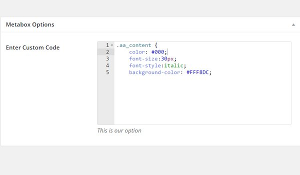 Adding new code to the code type option