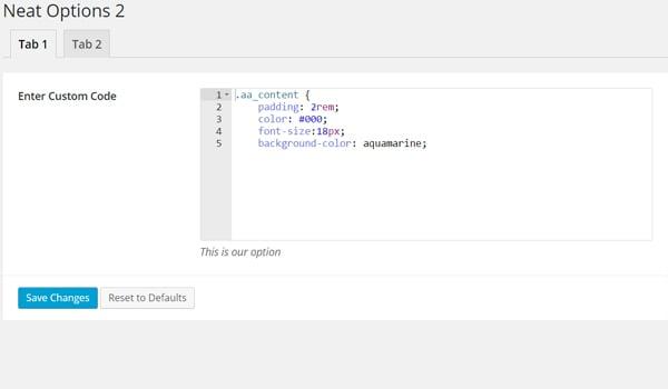 Writing code in the code type option in Titan