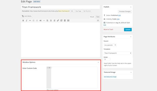 Adding the code type option to a meta box