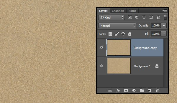 Duplicating the Background Layer