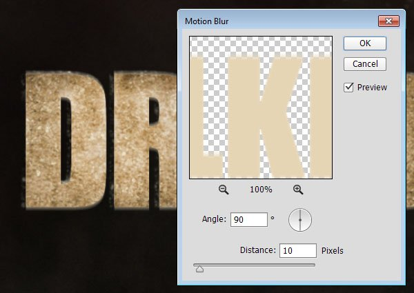 Motion Blurring the Copy Text Layer