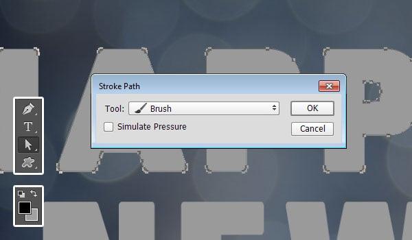 Stroke Path Dialog Box