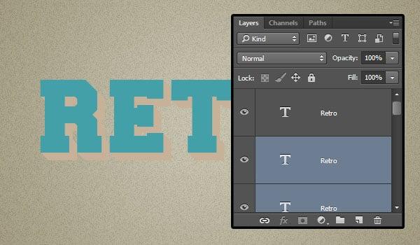 Change Copy Text Layers Color