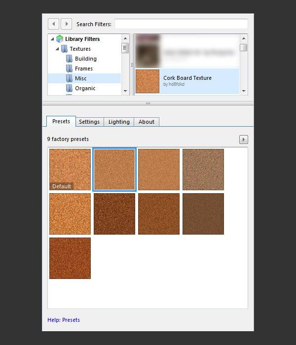Cork Texture Filter