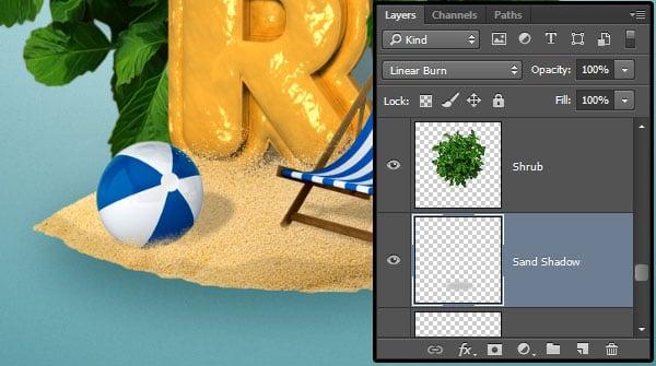 Create the Sand Shadow
