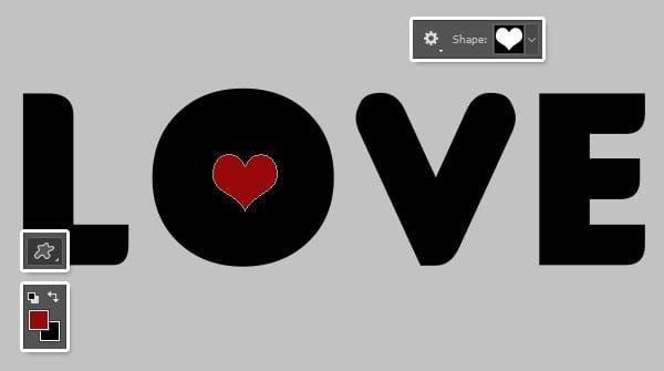 Add the Heart Shape