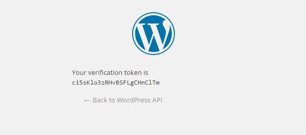 Verification token