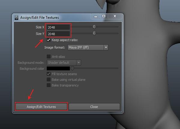 AssignEdit File Texture