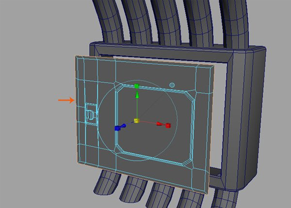 Extrude and scale down