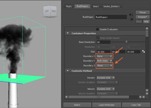 Attribute Editor  Fluid Shape