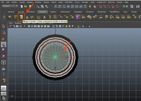 Create a polygon cylinder