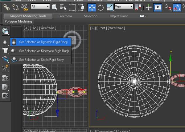 Make this sphere as a dynamic rigid body
