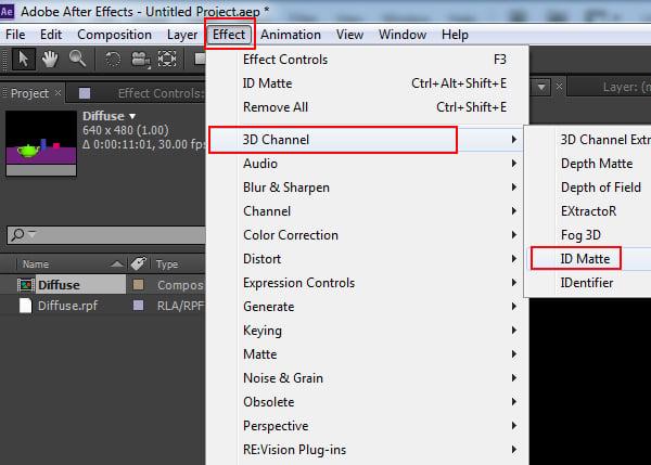 Effects  3D Channel  ID Matte